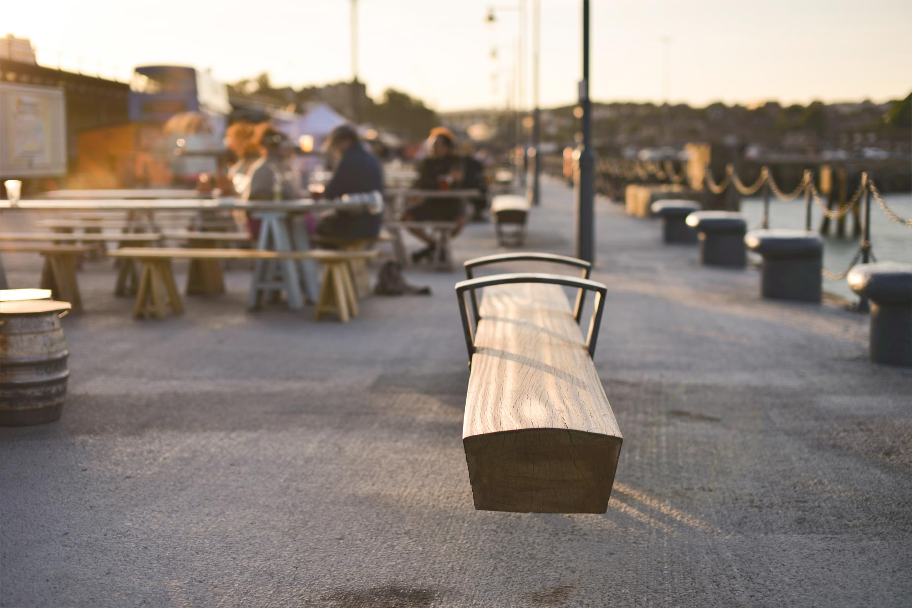 Folkestone Harbour Arm Benches