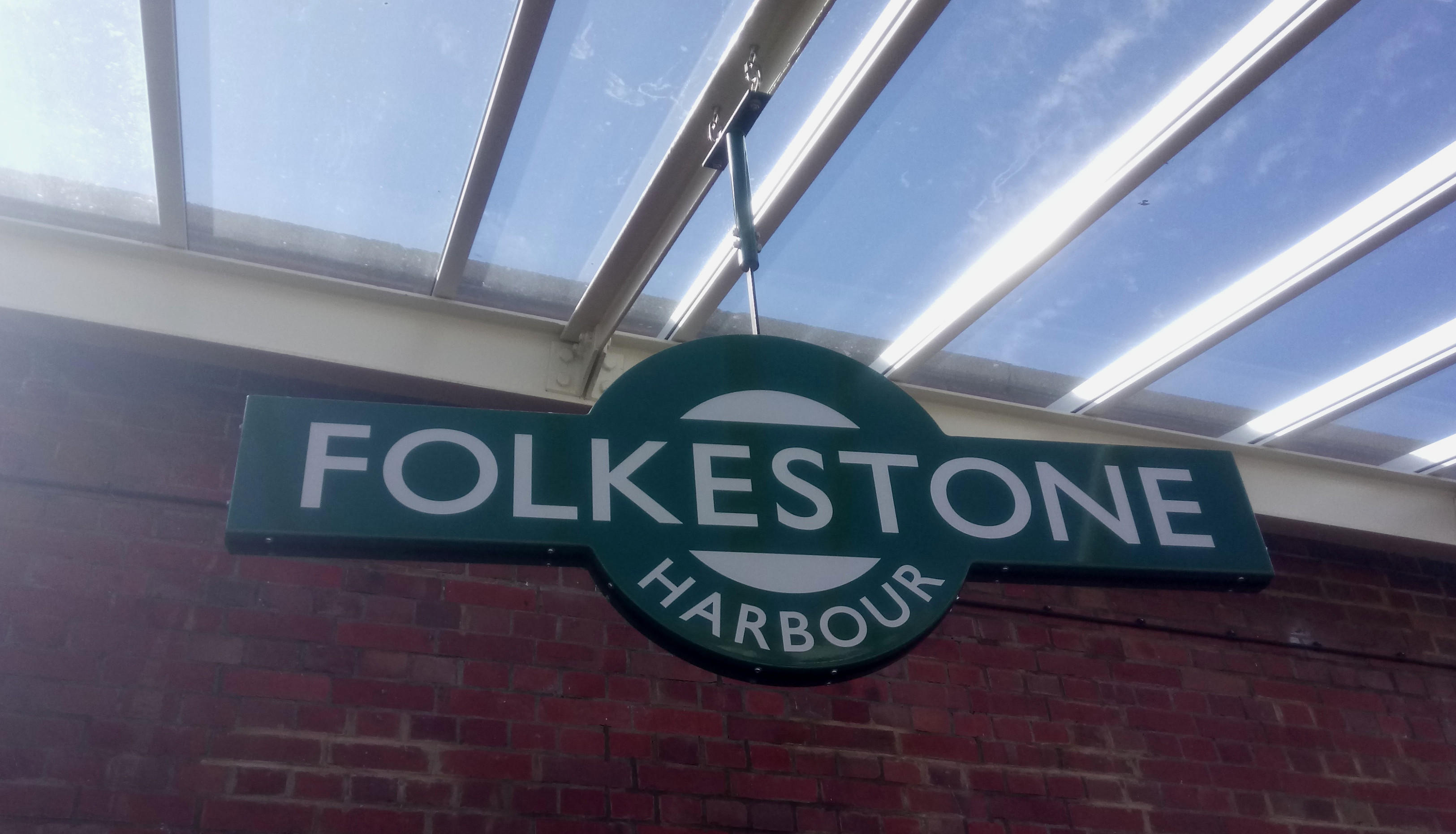 Folkestone Harbour Station Sign