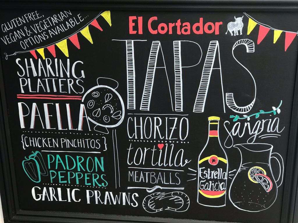 El Cortador Menu Board