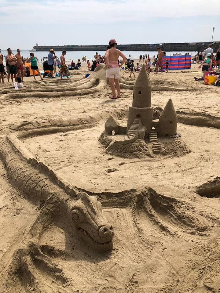Sandcastle Competition Castle and Dragon