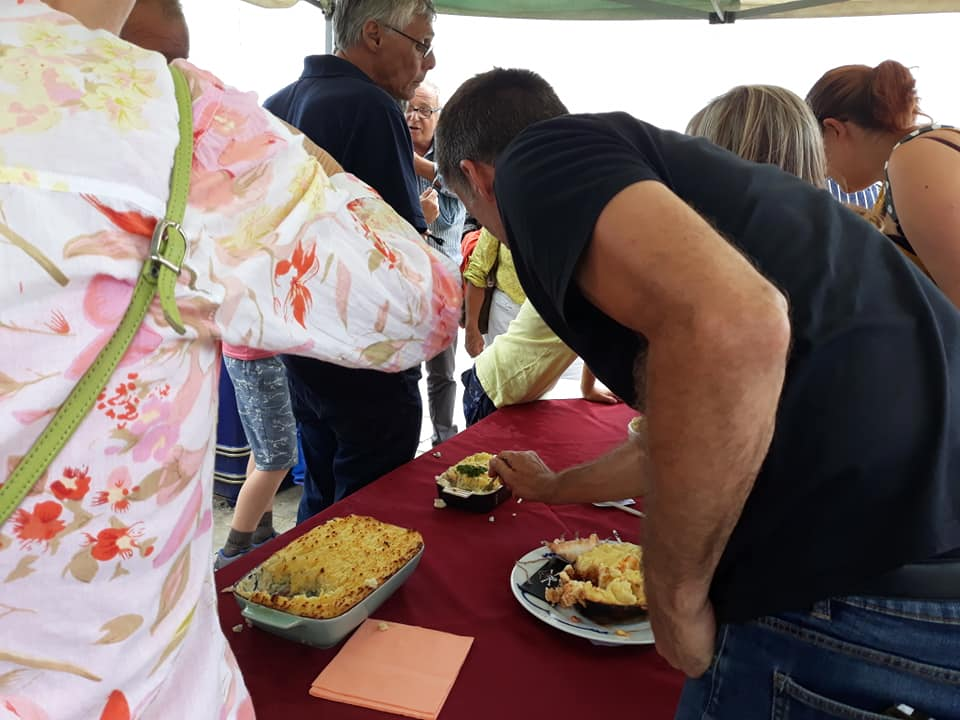 Trawlers Fish Pie Competition Digging In!