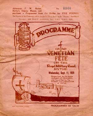 Hythe Venetian Fete Programme