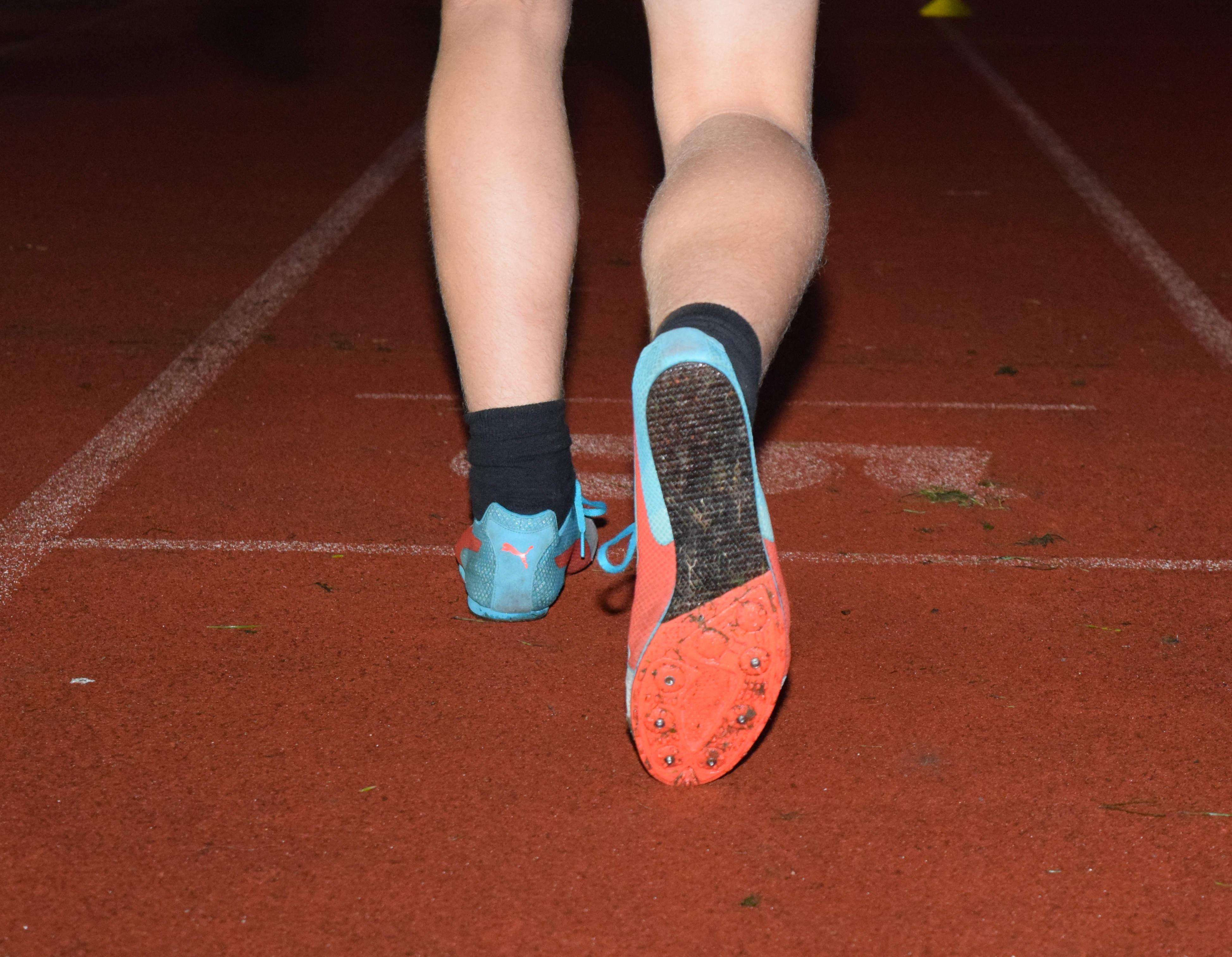 Athletics Track feet