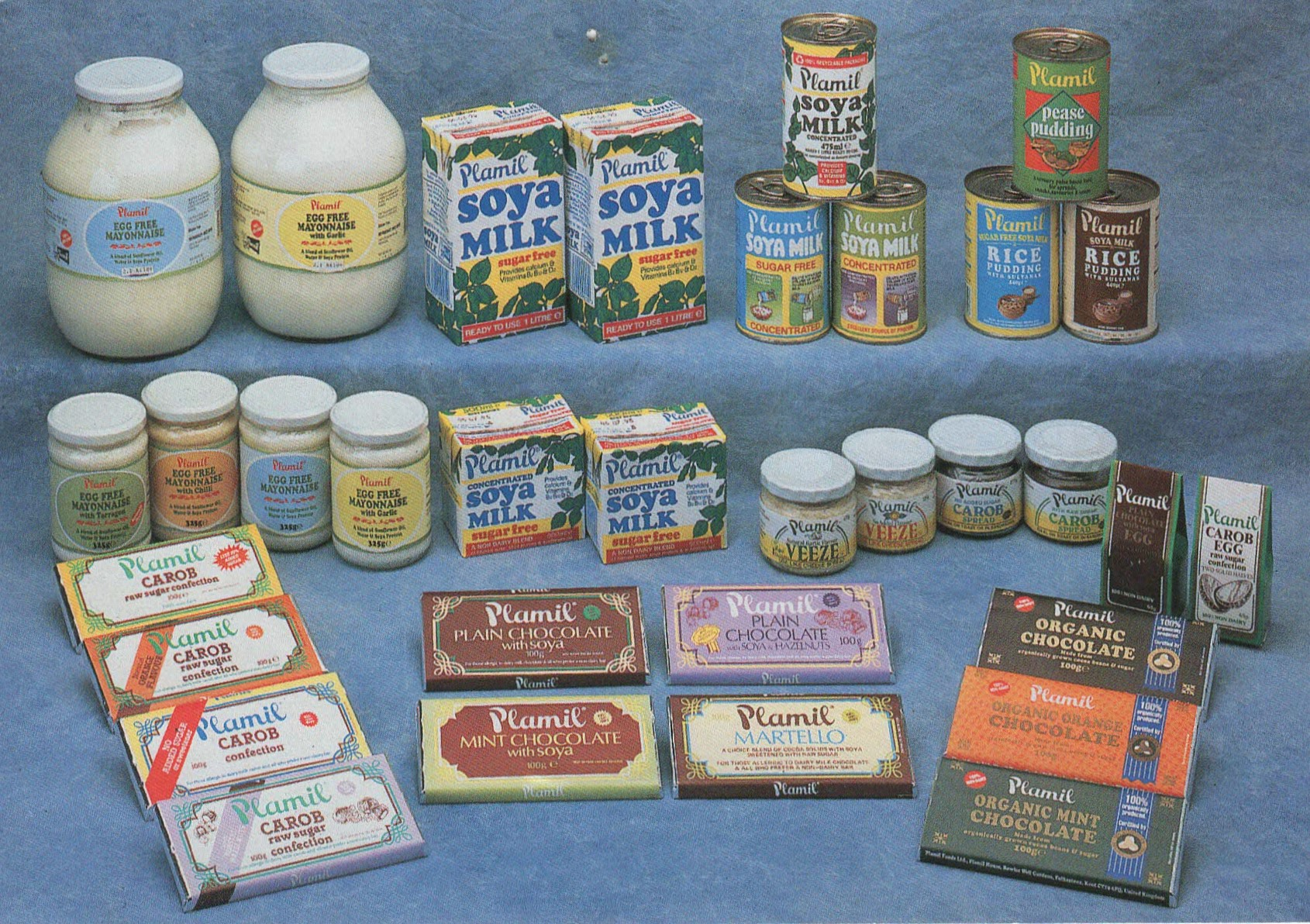 Plamil's range from the 1980s