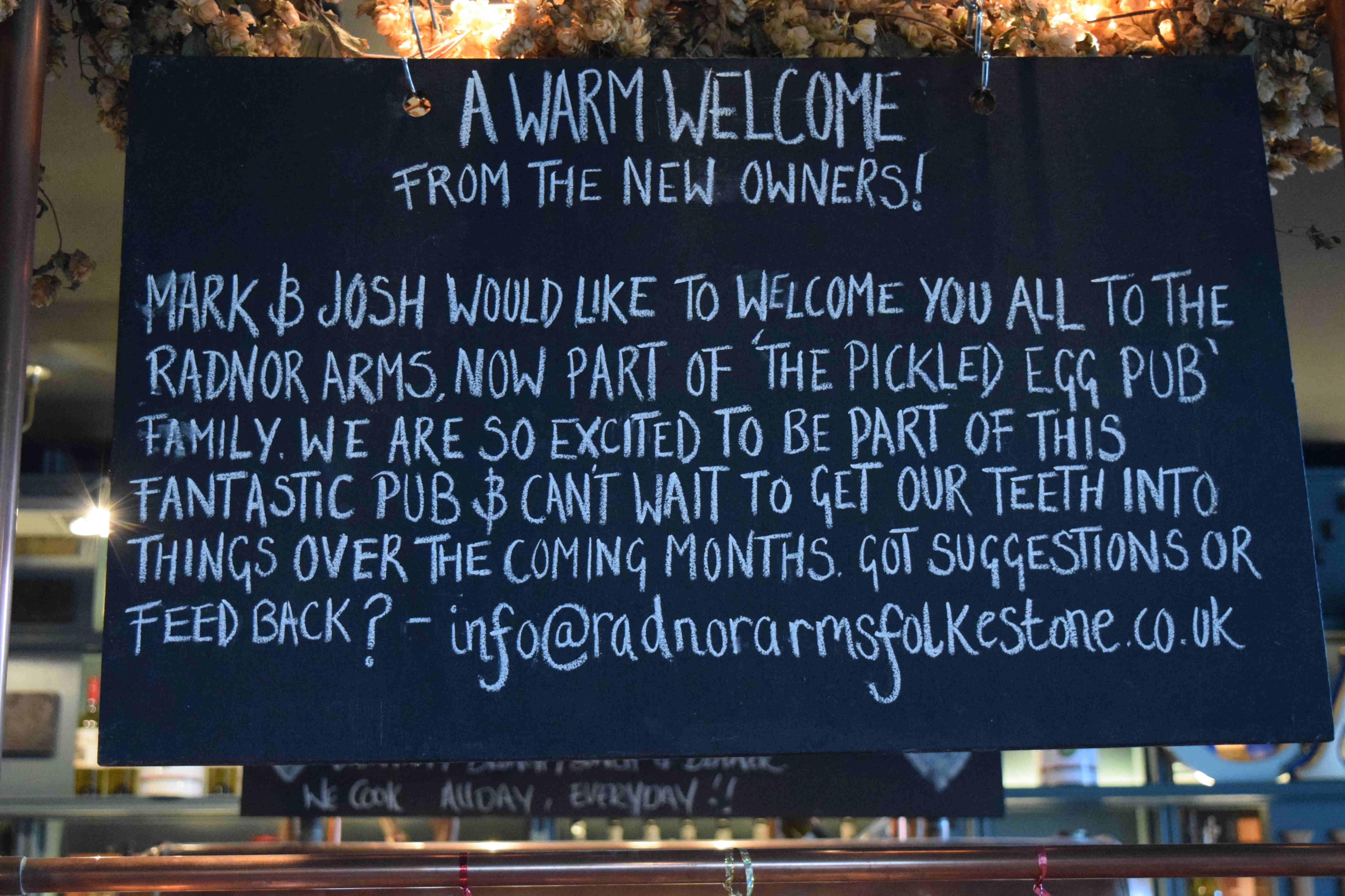 Warm Welcome Radnor Arms
