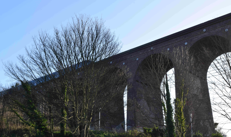 High Speed 1 crossing Foord Road Viaduct