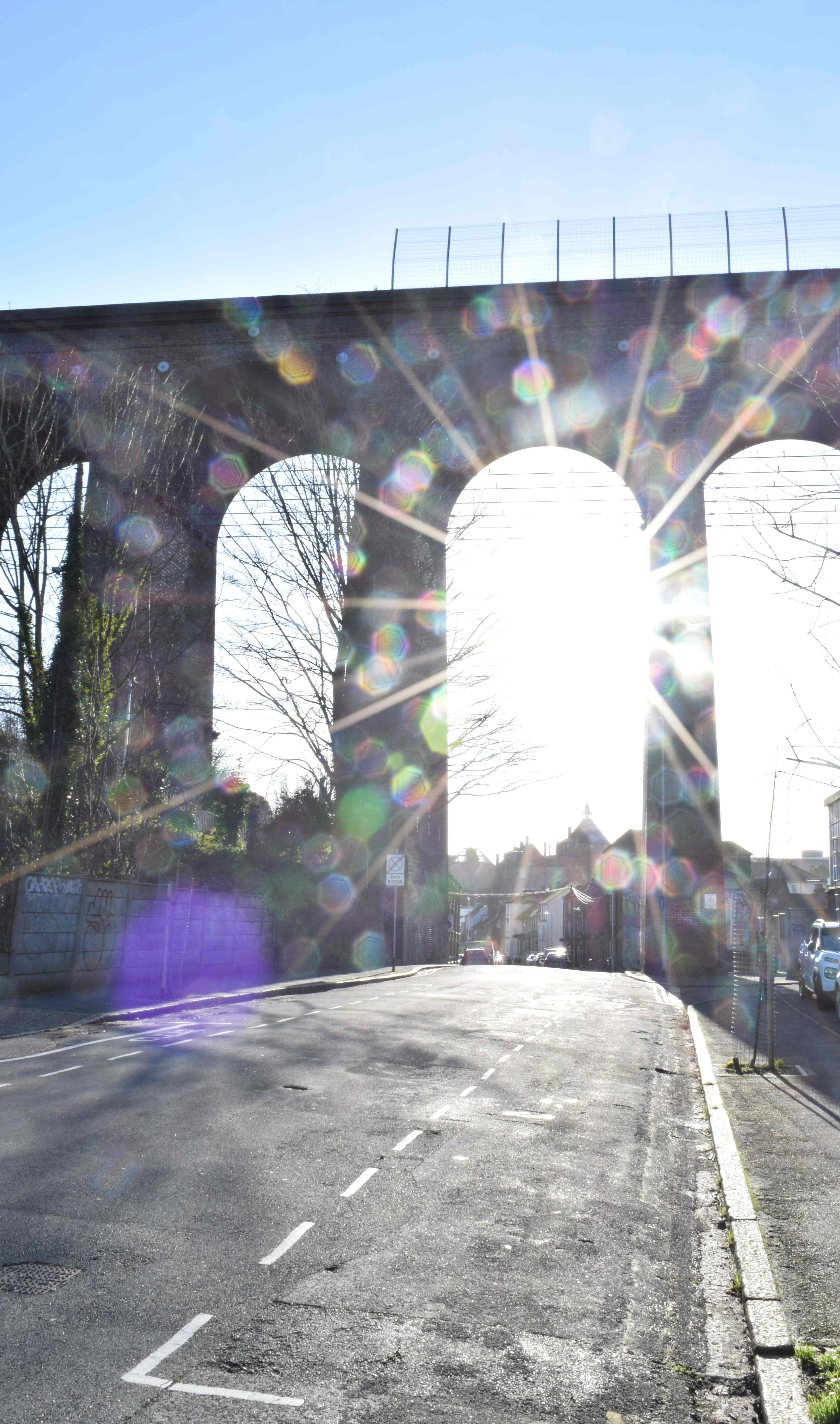 Sunlight through the viaduct