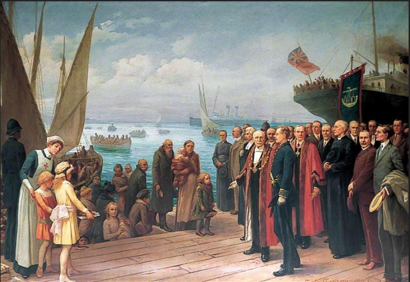 Landing of the Belgians