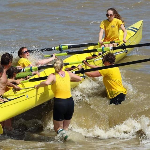 Launching Folkestone Rowing Club