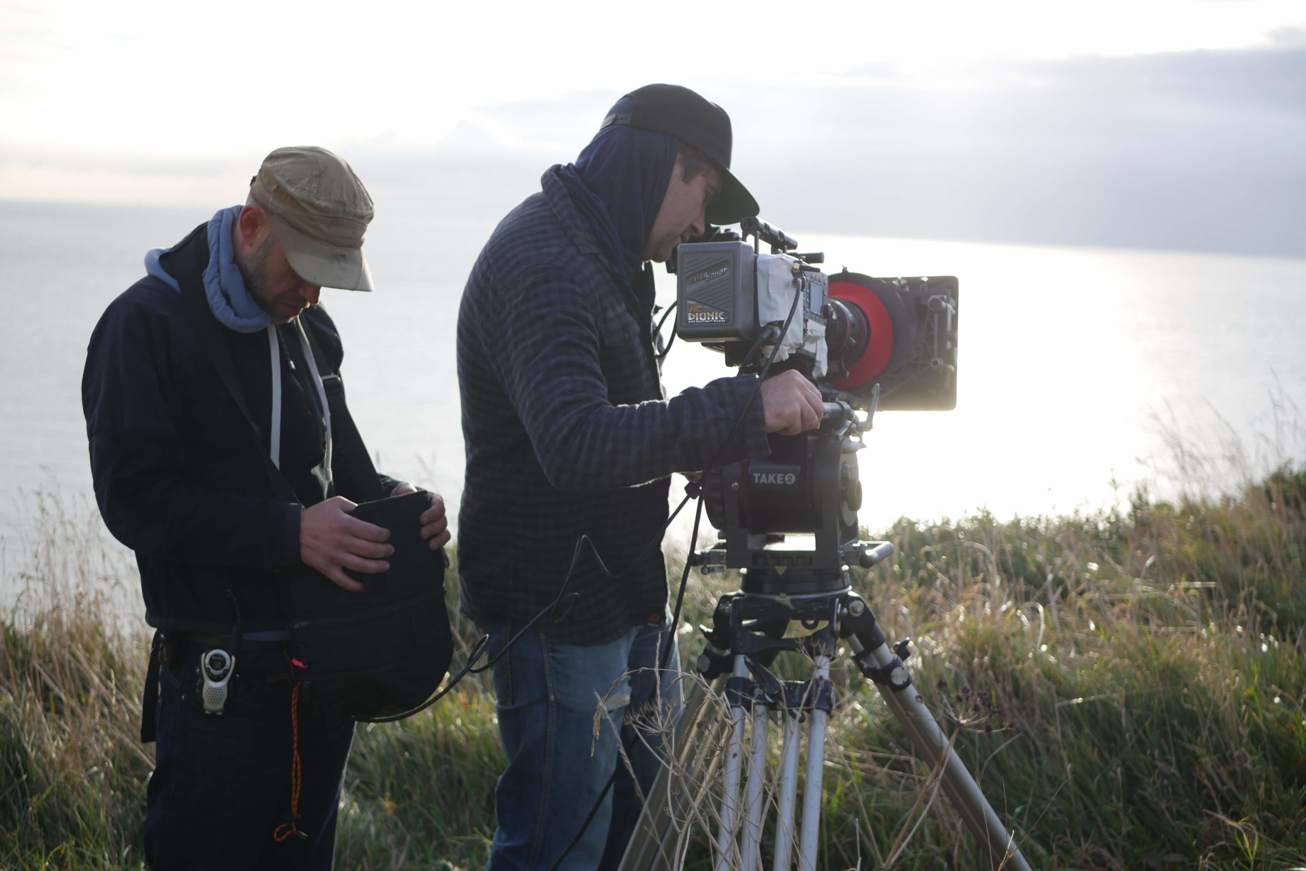 Cliff Top Filming Peter Blach