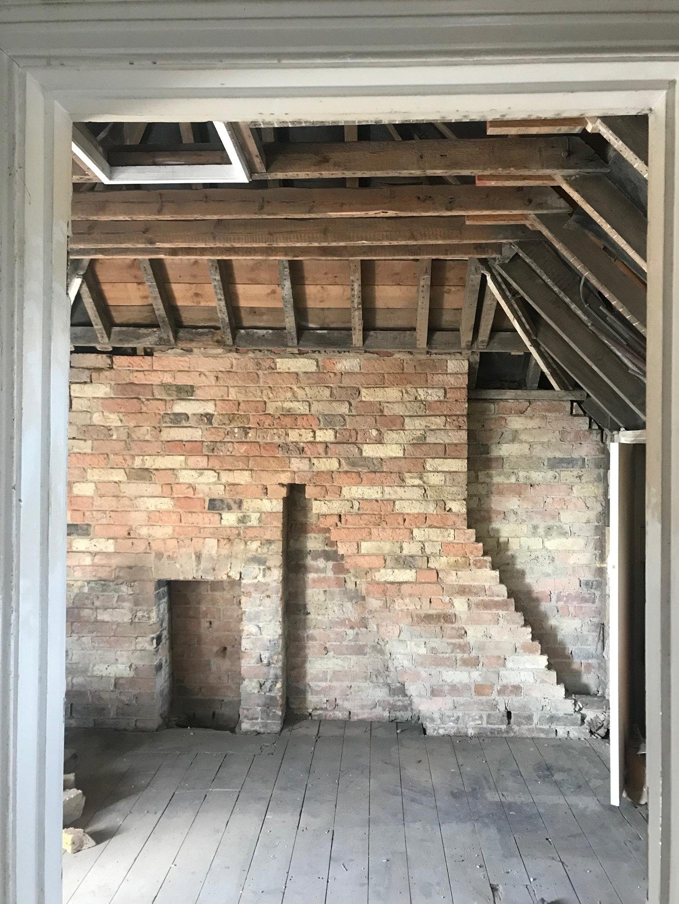 Loft Room Victorian Brick Detail Sunny Sands House