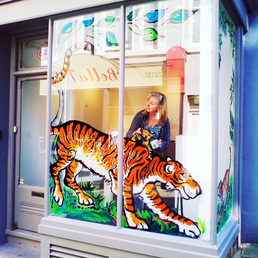 Tiger Window Art