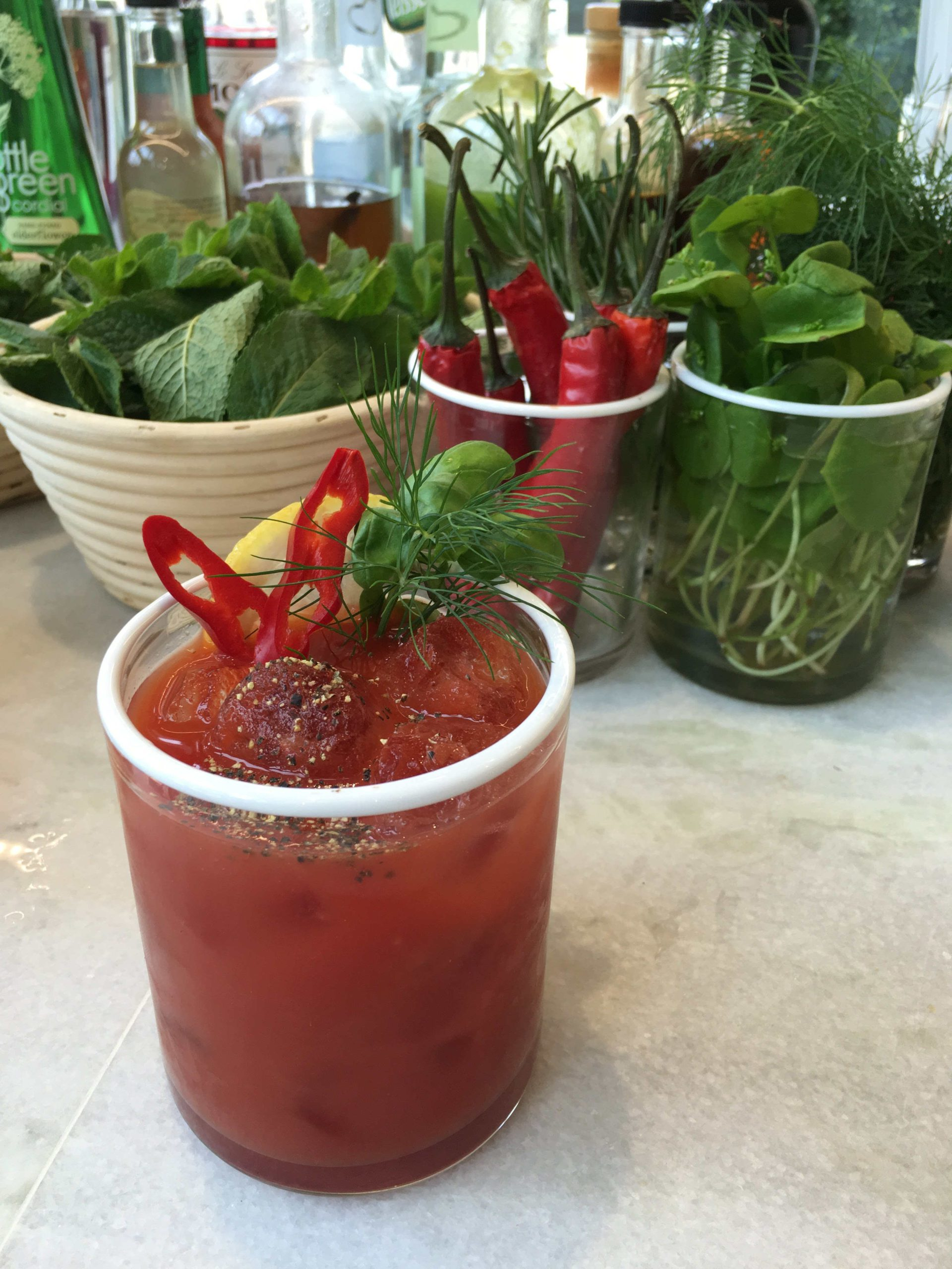 Bar Folklore Bloody Mary with chillies