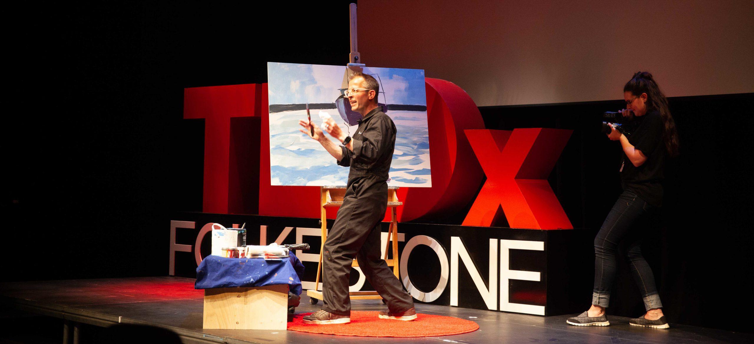 Shane Record Live Painting TedXFolkestone