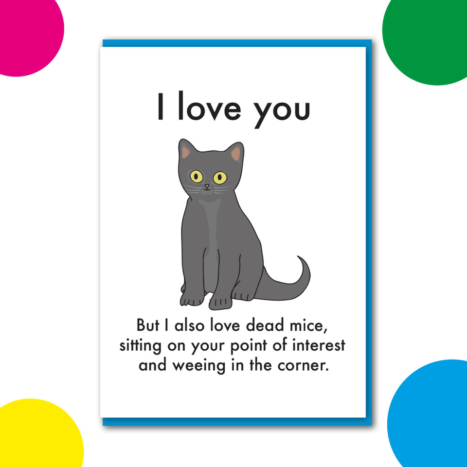I love you Cat Card