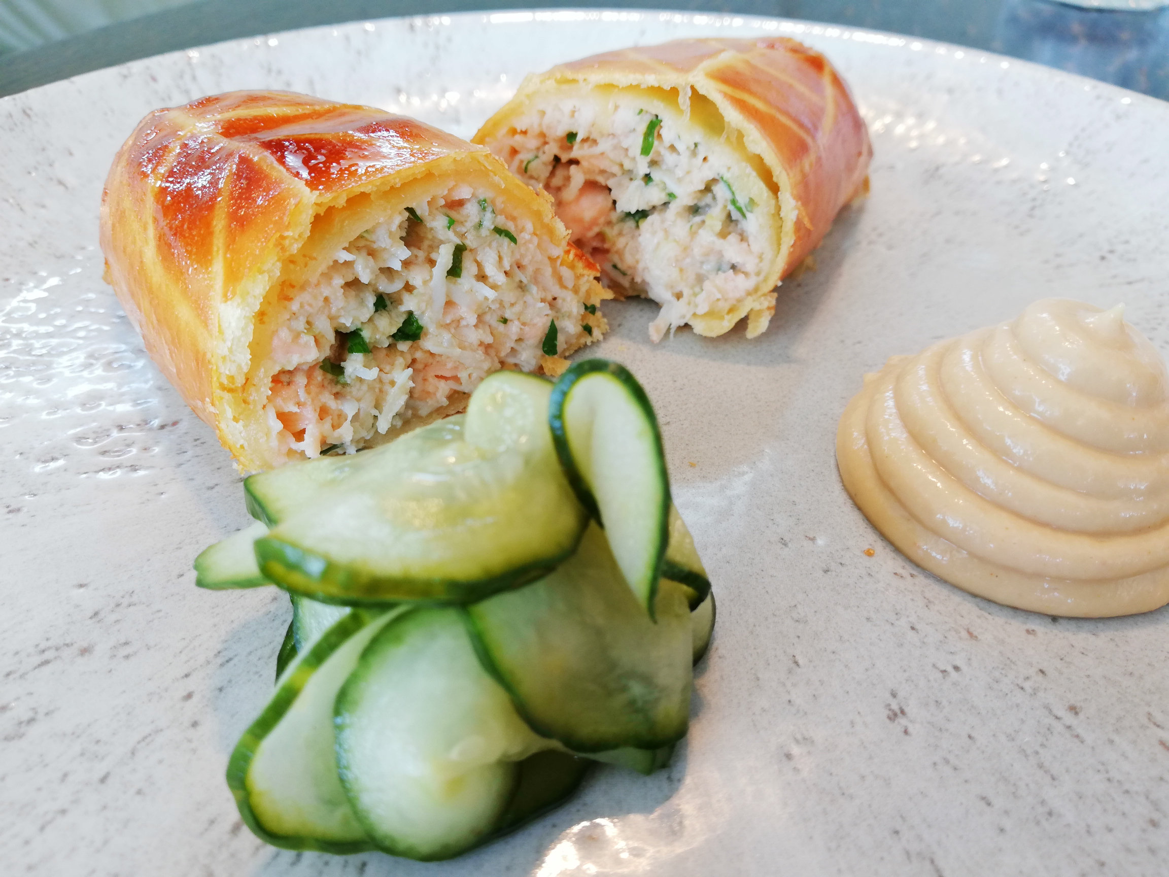 Mark Sargeant's Crab and Salmon Sausage Roll
