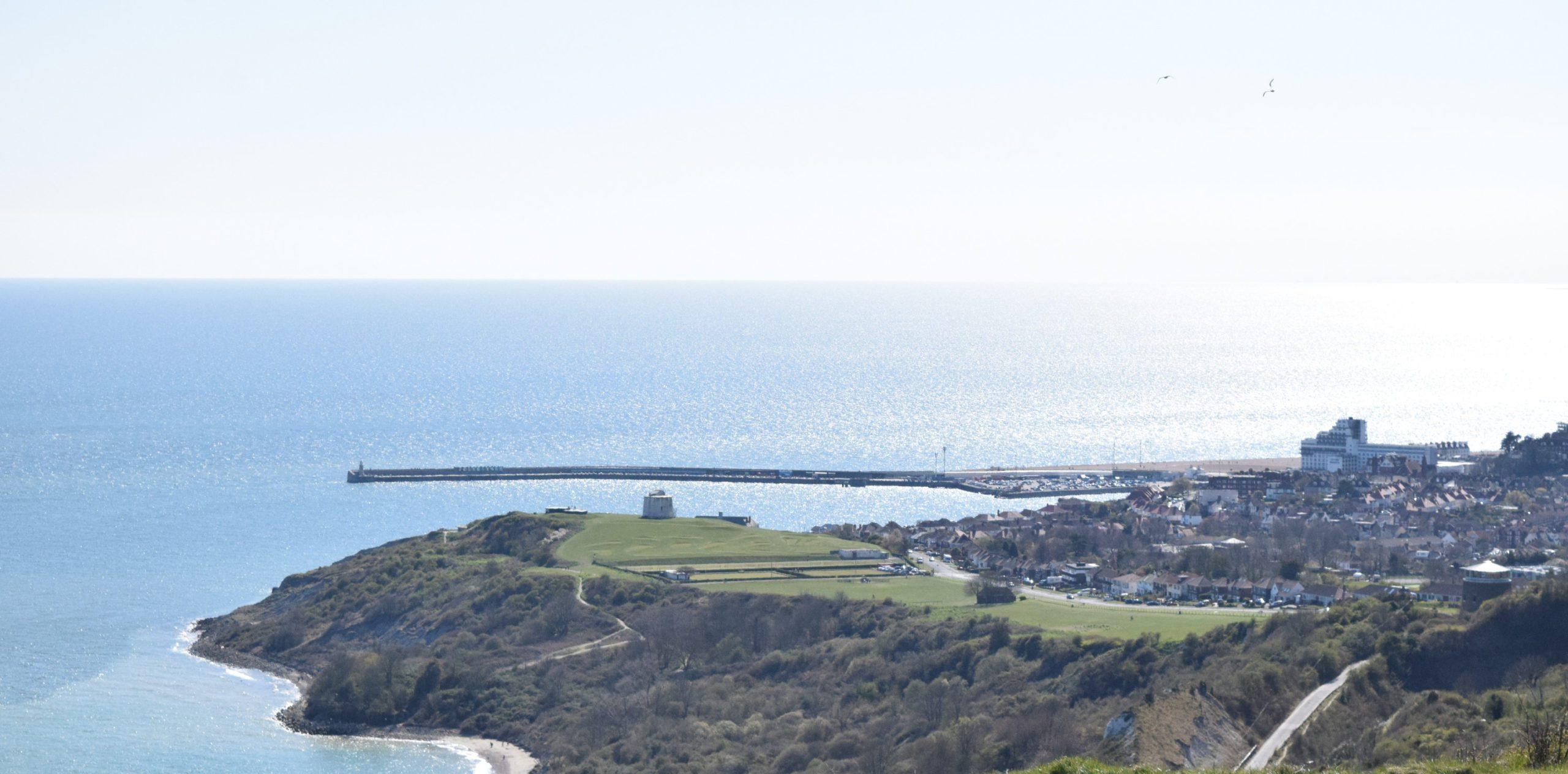View to Folkestone