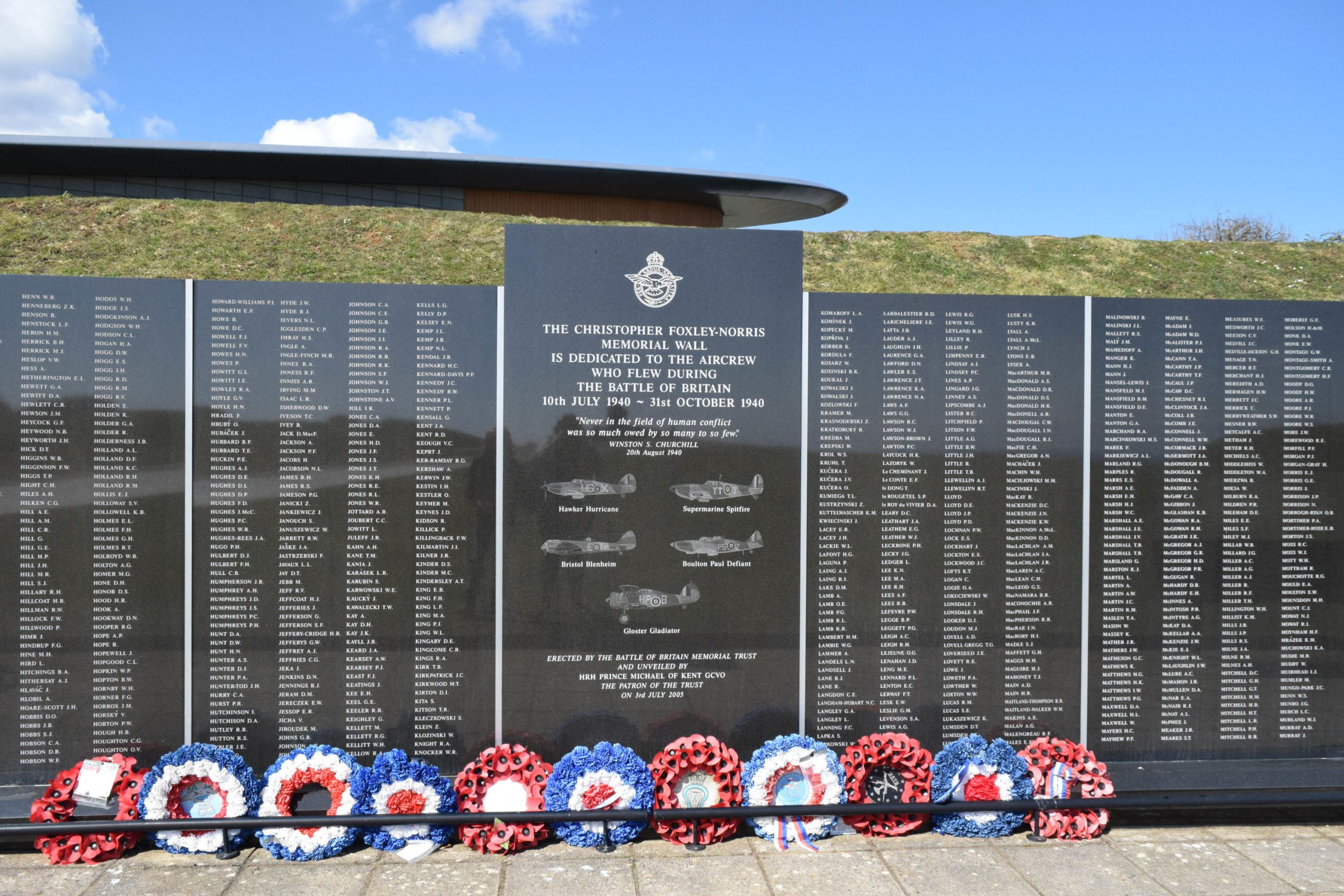 Memorial wall to The Few