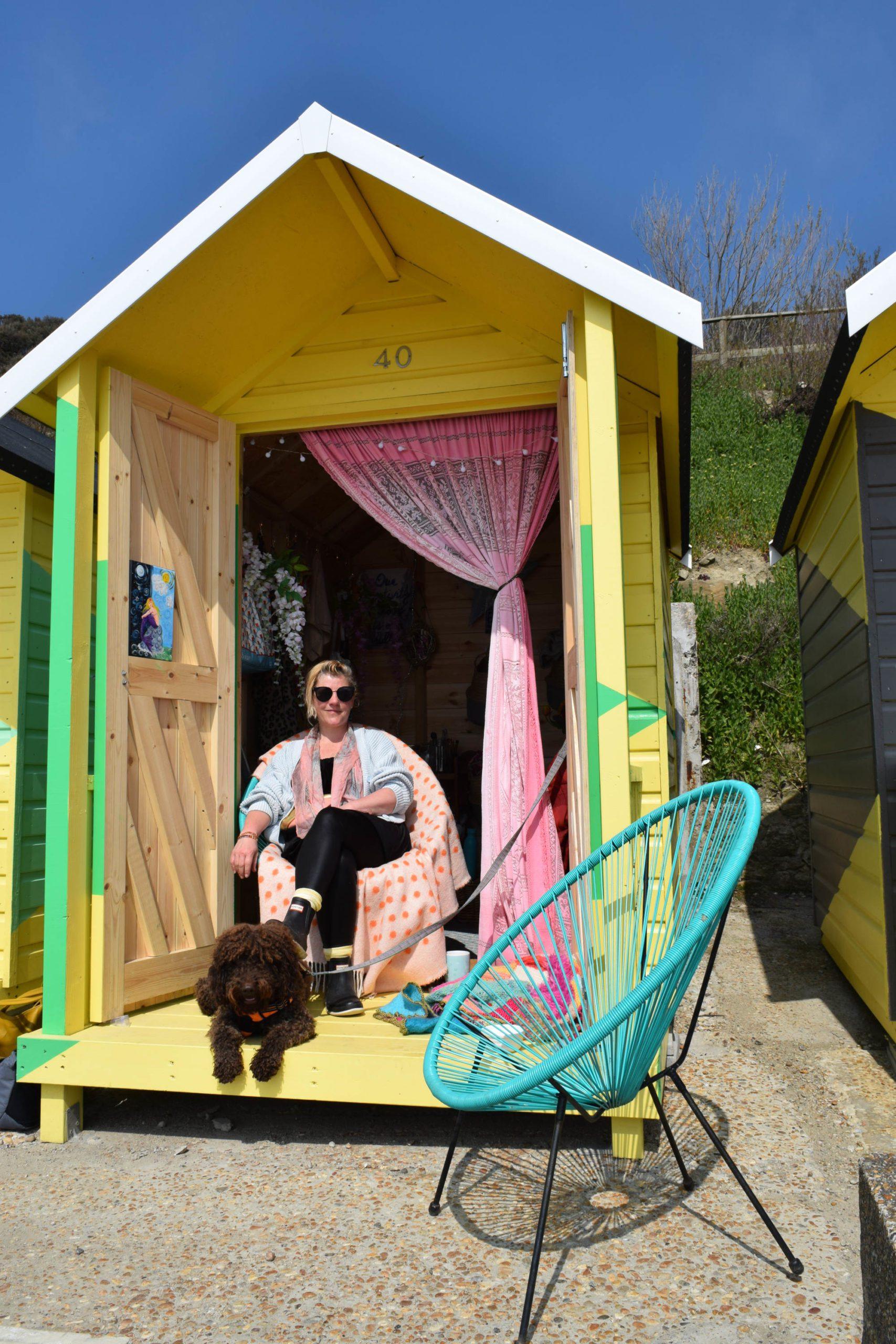 Di Burns and Beau at the Beach Hut