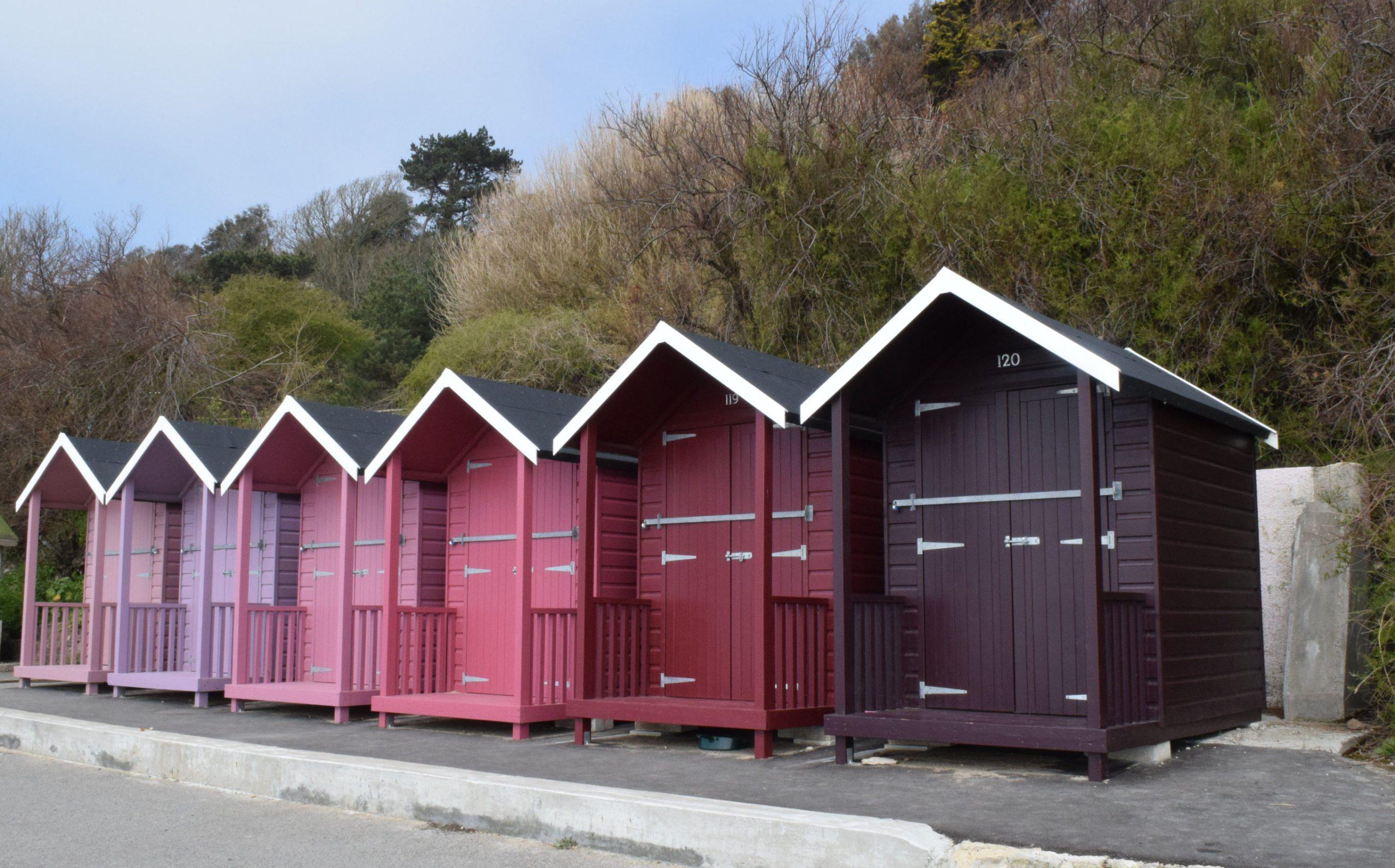 Red Purple Beach Huts