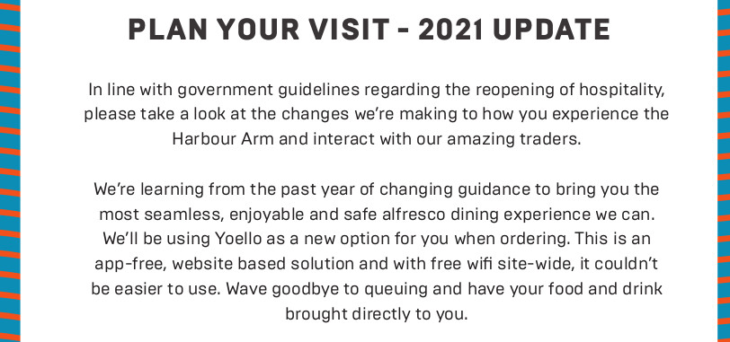 Plan your visit 2021 Harbour Arm