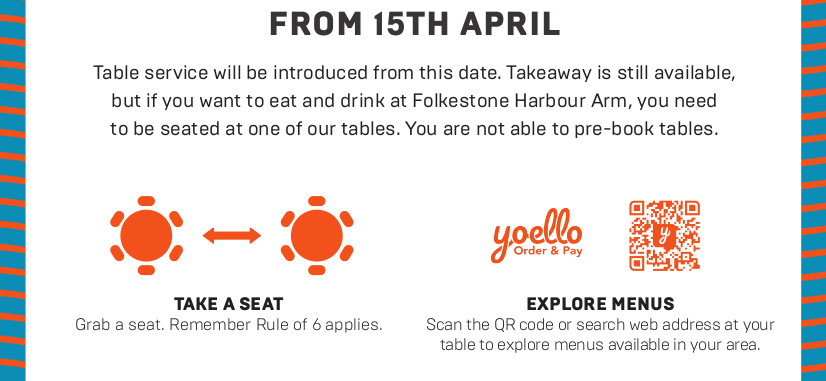 Table Service From 15th April 2021