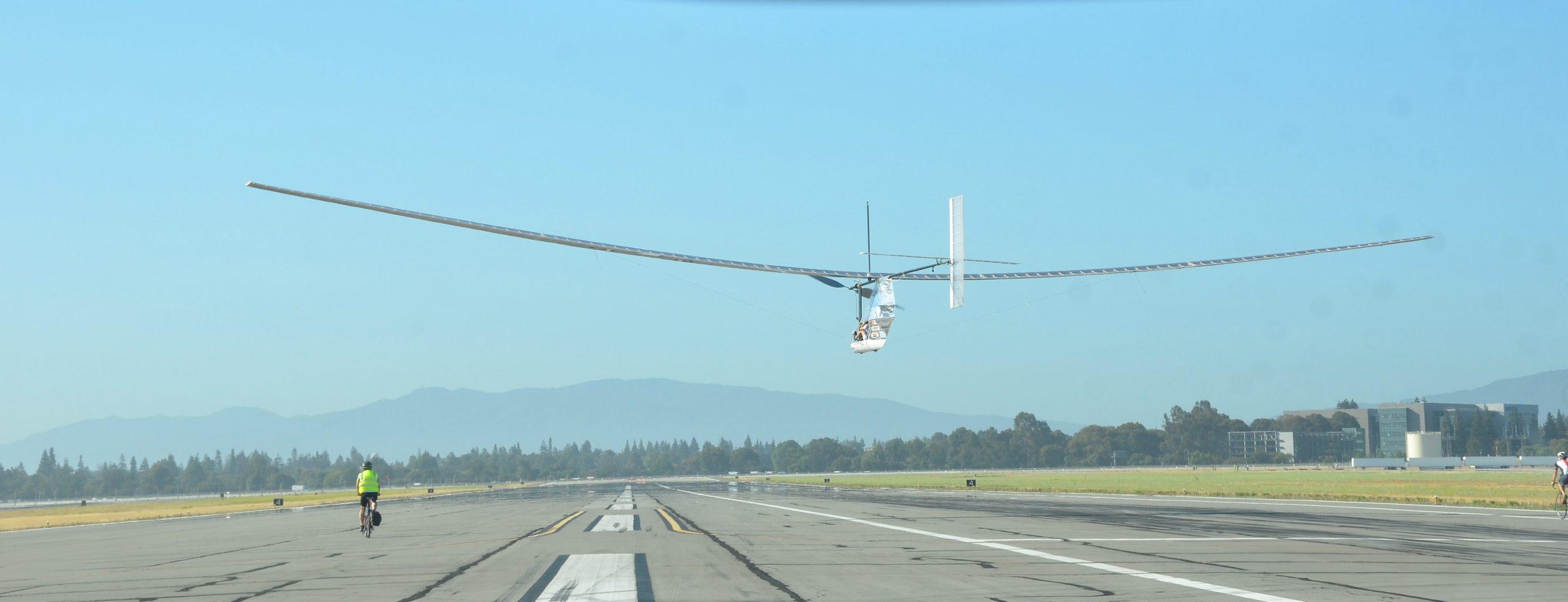 Human Powered Aircraft Dash in Flight