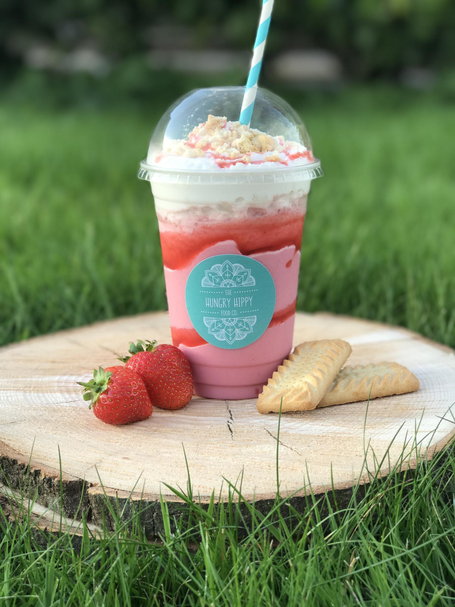 Hungry Hippy Strawberry Milkshake