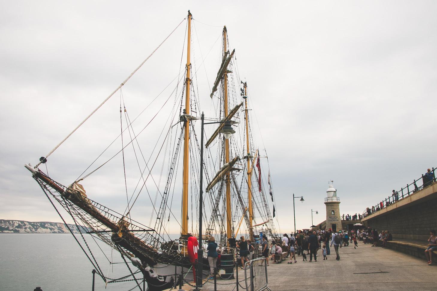 TS Pelican Of London on Folkestone's Harbour Arm