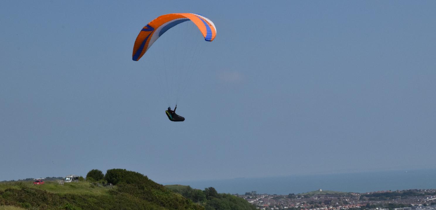 Paragliding over Martello
