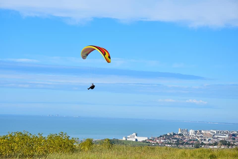Credit Louis Photography Paragliding over Folkestone