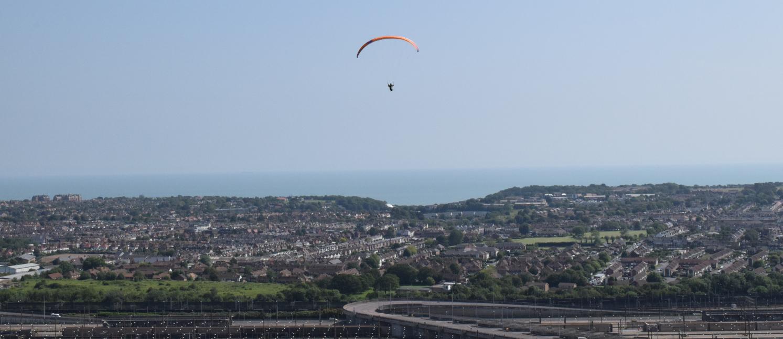 Paragliding over Folkestone
