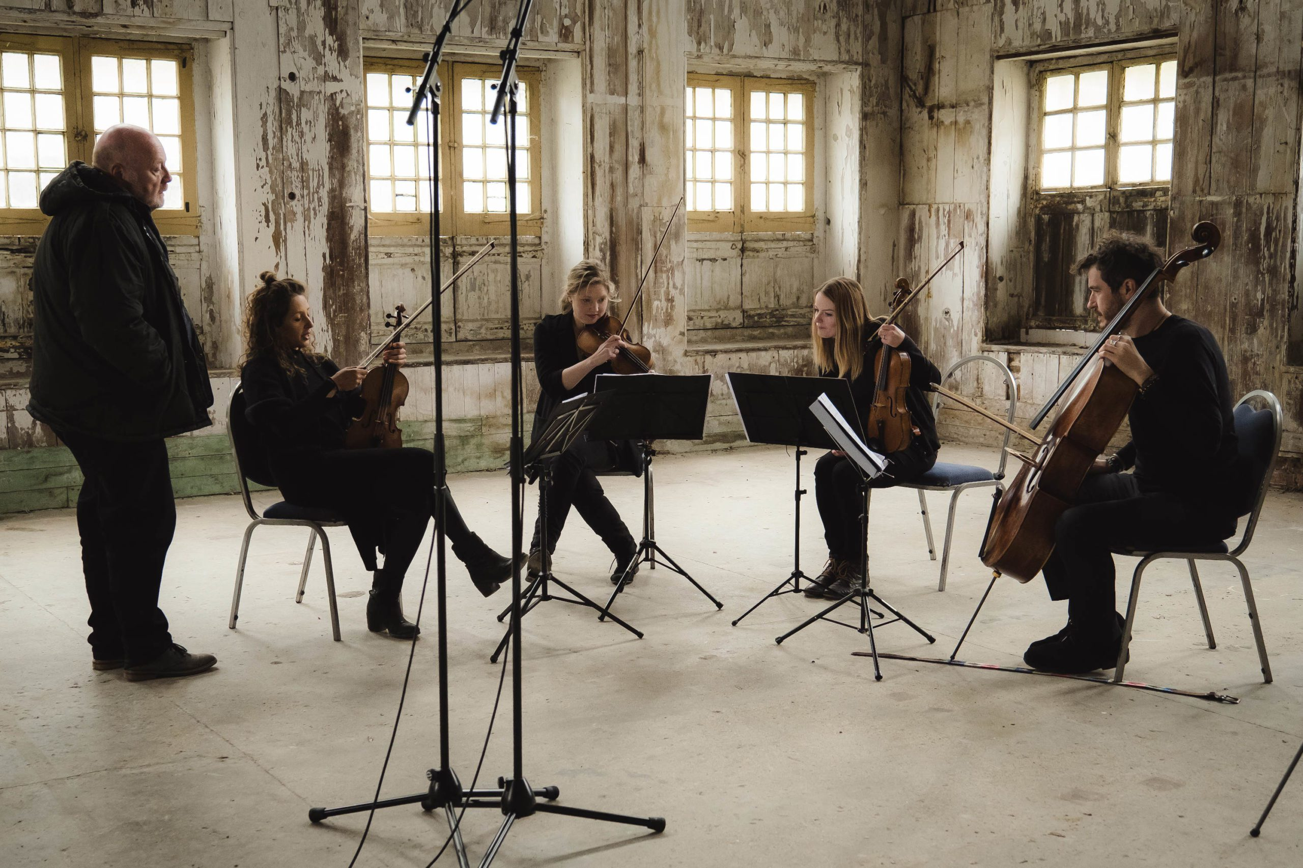 Benyounes Quartet Practicing Credit Chelsey Browne