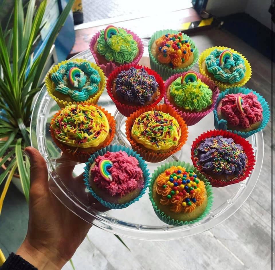 The Nook Rainbow CupCakes