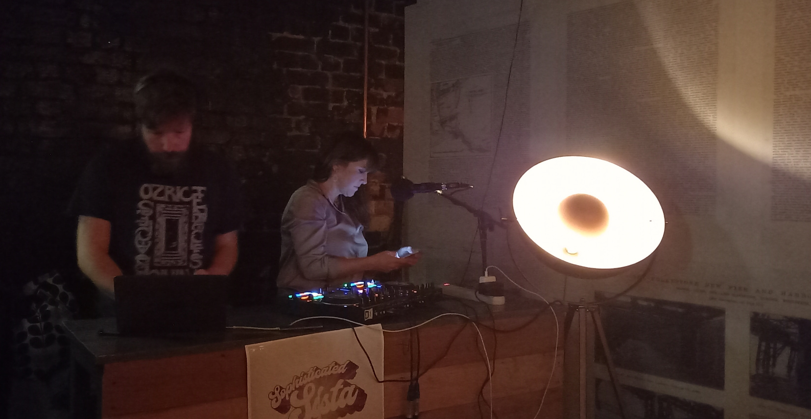 Lizzie D DJing at The Waiting Room