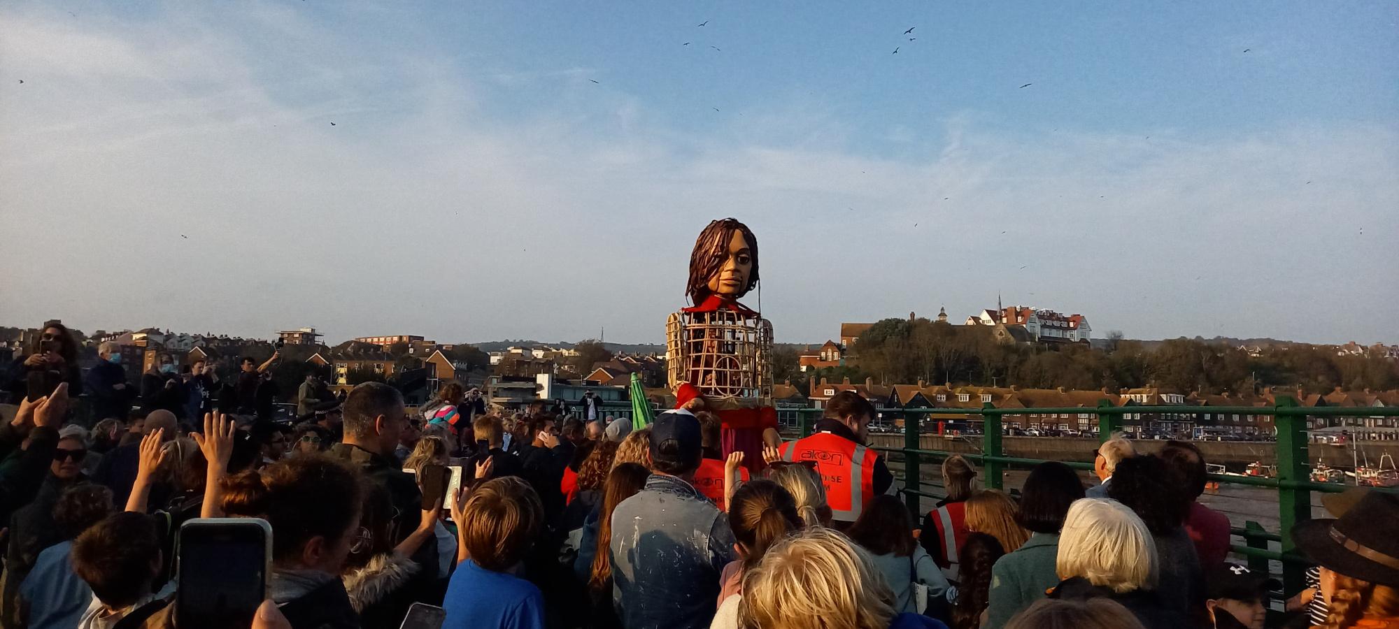 Little Amal Greeting Folkestone
